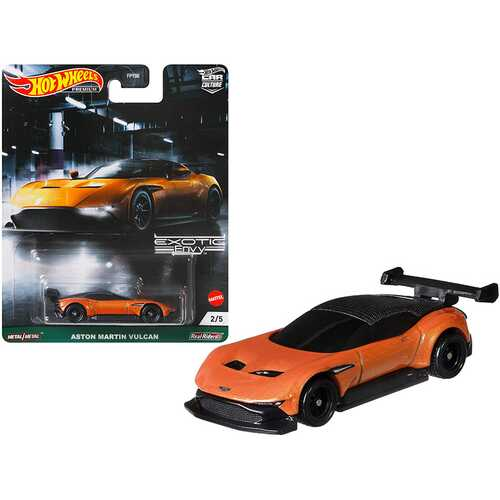 "Aston Martin Vulcan Orange Metallic ""Exotic Envy"" Series Diecast Model Car by Hot Wheels"