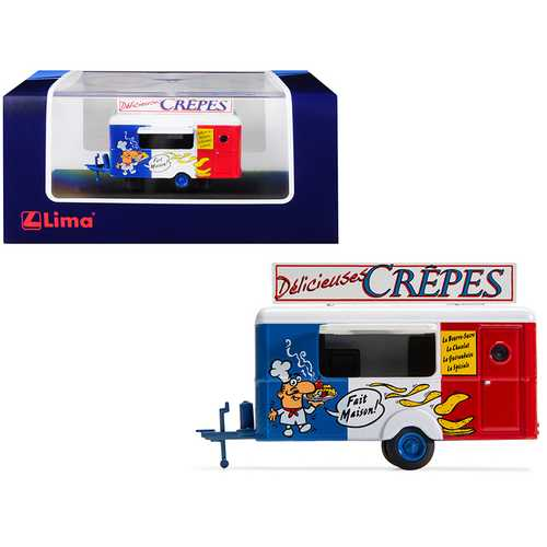 "Mobile Food Trailer ""Delicieuses Crepes"" (France) 1/87 (HO) Scale Diecast Model by Lima"