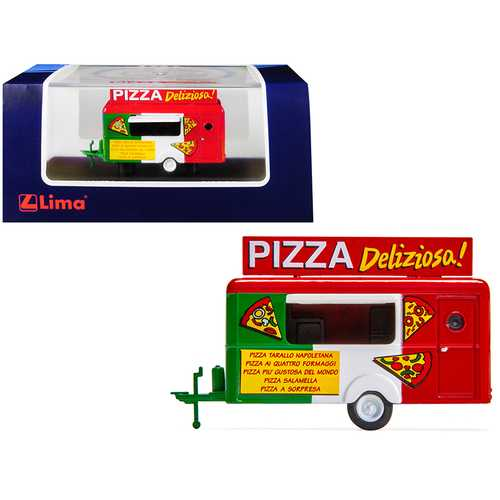 "Mobile Food Trailer ""Pizza Deliziosa!"" (Italy) 1/87 (HO) Scale Diecast Model by Lima"