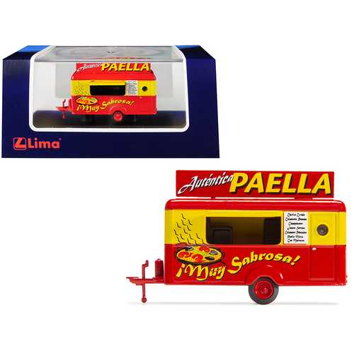 "Mobile Food Trailer ""Autentica Paella"" (Spain) 1/87 (HO) Scale Diecast Model by Lima"