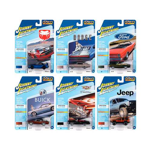 Classic Gold 2020 Release 1, Set B of 6 Cars Limited Edition to 3,000 pieces Worldwide 1/64 Diecast Model Cars by Johnny Lightning