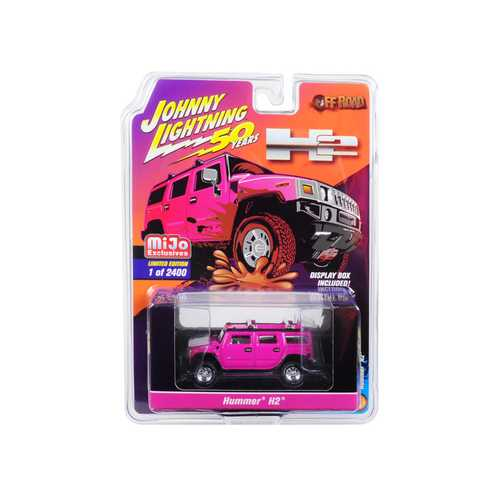 "Hummer H2 Pink ""Off-Road"" ""Johnny Lightning 50th Anniversary"" Limited Edition to 2,400 pieces Worldwide 1/64 Diecast Model Car by Johnny Lightning"