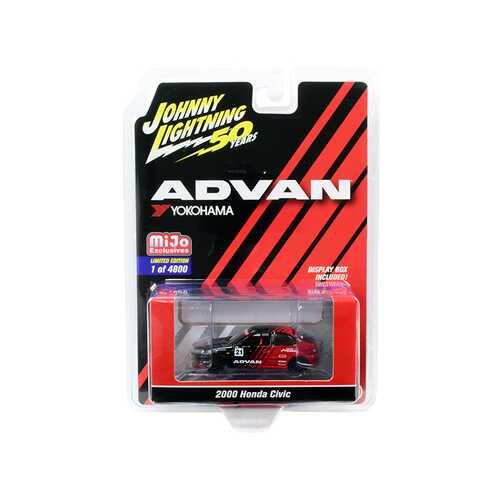 "2000 Honda Civic #21 ""ADVAN Yokohama"" ""Johnny Lightning 50th Anniversary"" Limited Edition to 4800 pieces Worldwide 1/64 Diecast Model Car by Johnny Lightning"