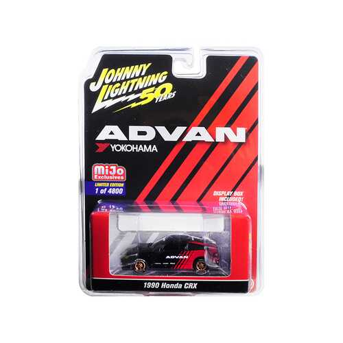 "1990 Honda CRX ""ADVAN Yokohama"" ""Johnny Lightning 50th Anniversary"" Limited Edition to 4,800 pieces Worldwide 1/64 Diecast Model Car by Johnny Lightning"