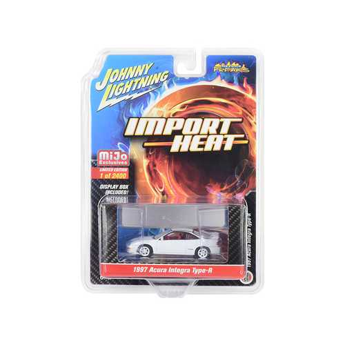 "1997 Acura Integra Type R White with Red Interior ""Import Heat"" Limited Edition to 2400 pieces Worldwide 1/64 Diecast Model Car by Johnny Lightning"