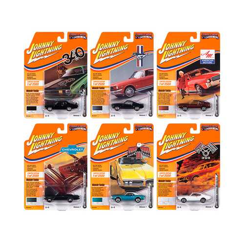 Muscle Cars USA 2020 Set B of 6 Cars Release 1 Limited Edition to 2500 pieces Worldwide 1/64 Diecast Model Cars by Johnny Lightning