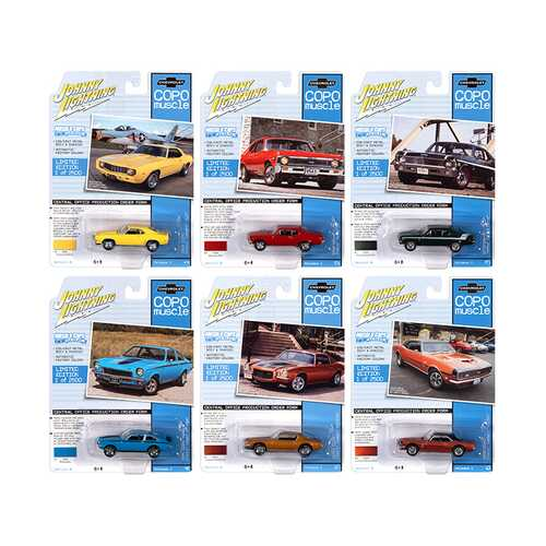 "Muscle Cars USA 2020 Set A of 6 Cars Release 2 ""COPO Muscle"" Limited Edition to 2500 pieces Worldwide 1/64 Diecast Model Cars by Johnny Lightning"
