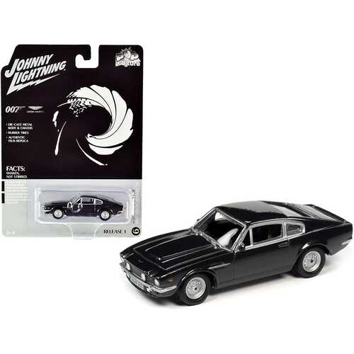 "1987 Aston Martin V8 (James Bond 007) ""No Time to Die"" (2020) Movie ""Pop Culture"" Series 1/64 Diecast Model Car by Johnny Lightning"