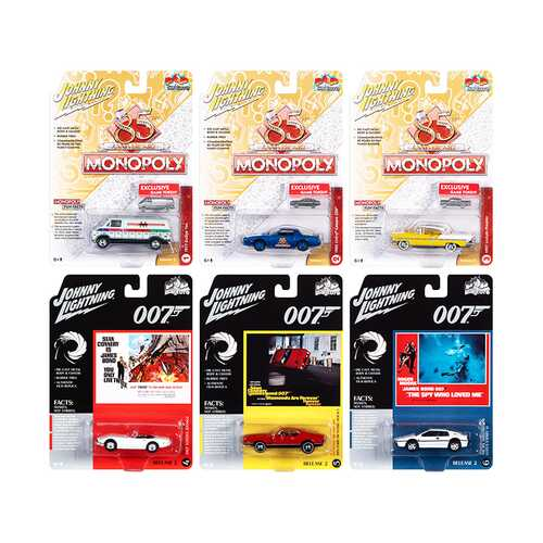 Pop Culture 2020 Set of 6 Cars Release 2 1/64 Diecast Model Cars by Johnny Lightning