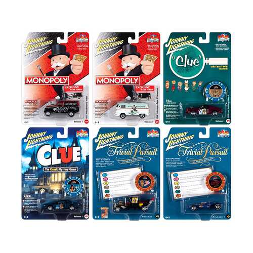 Pop Culture 2021 Set of 6 Cars Release 1 1/64 Diecast Model Cars by Johnny Lightning