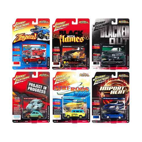 Street Freaks 2018 Release 4 Set A of 6 Cars 1/64 Diecast Models by Johnny Lightning