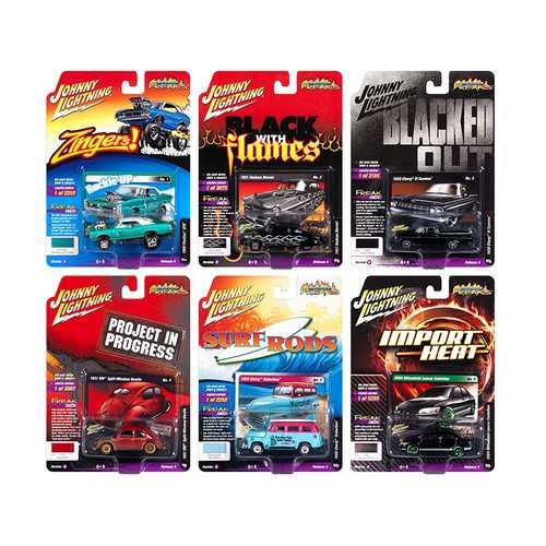 Street Freaks 2018 Release 4 Set B of 6 Cars 1/64 Diecast Models by Johnny Lightning