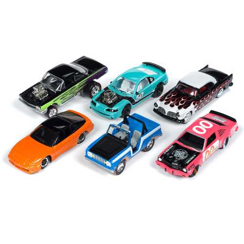 """Street Freaks"" 2019 Set A of 6 Cars Release 1 Limited Edition to 3000 pieces Worldwide 1/64 Diecast Models by Johnny Lightning"