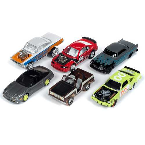 """Street Freaks"" 2019 Set B of 6 Cars Release 1 Limited Edition to 3000 pieces Worldwide 1/64 Diecast Models by Johnny Lightning"