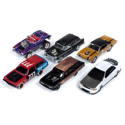 """Street Freaks"" 2019 Set A of 6 Cars Release 2 Limited Edition to 3000 pieces Worldwide 1/64 Diecast Models by Johnny Lightning"