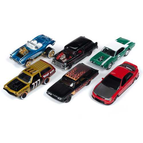 """Street Freaks"" 2019 Set B of 6 Cars Release 2 Limited Edition to 3000 pieces Worldwide 1/64 Diecast Models by Johnny Lightning"