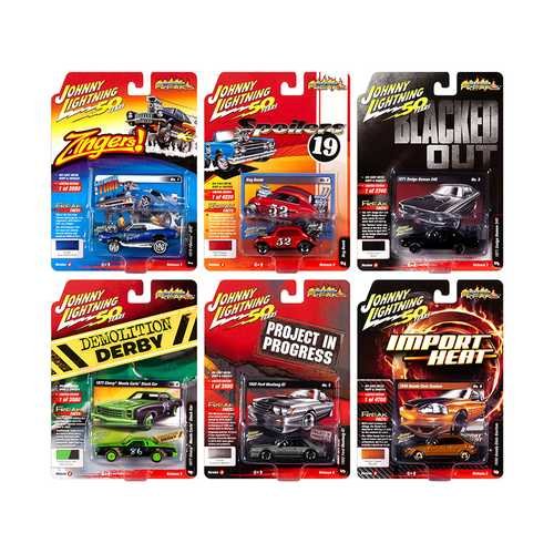 """Street Freaks"" 2019 Set A of 6 Cars Release 3 1/64 Diecast Models by Johnny Lightning"