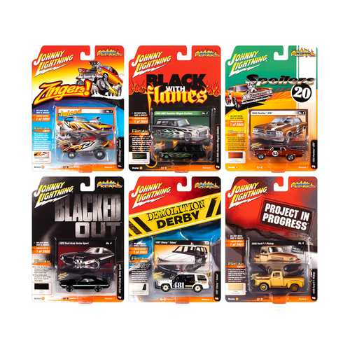"""Street Freaks"" 2020 Set B of 6 Cars Release 1 1/64 Diecast Models by Johnny Lightning"