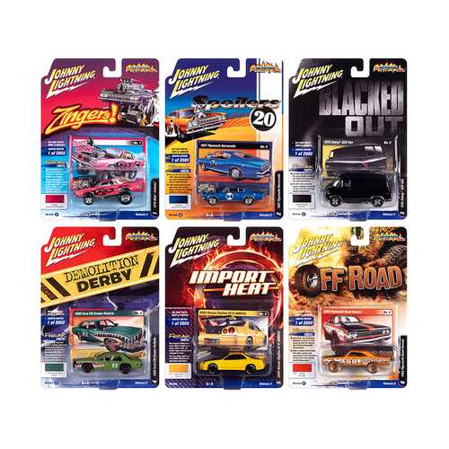 """Street Freaks"" 2020 Set A of 6 Cars Release 2 1/64 Diecast Model Cars by Johnny Lightning"