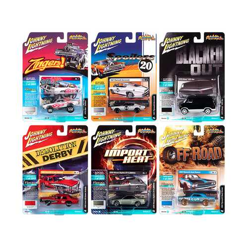 """Street Freaks"" 2020 Set B of 6 Cars Release 2 1/64 Diecast Model Cars by Johnny Lightning"
