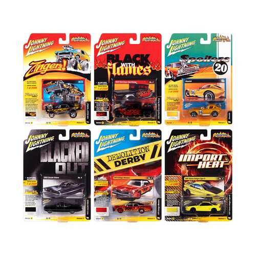 """""""Street Freaks"""" 2020 Set A of 6 Cars Release 3 1/64 Diecast Model Cars by Johnny Lightning"""