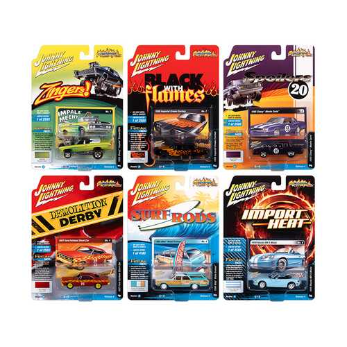 """Street Freaks"" 2020 Set A of 6 Cars Release 4 1/64 Diecast Model Cars by Johnny Lightning"