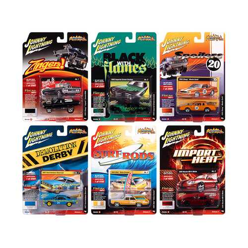 """Street Freaks"" 2020 Set B of 6 Cars Release 4 1/64 Diecast Model Cars by Johnny Lightning"