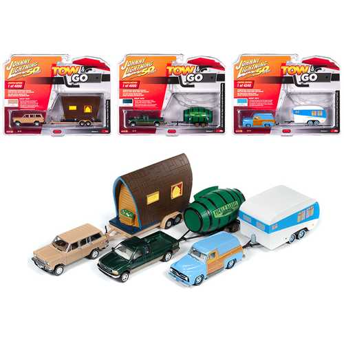"""Tow & Go"" Set A of 3 Cars Series 2 ""Johnny Lightning 50 Years"" 1/64 Diecast Model Cars by Johnny Lightning"