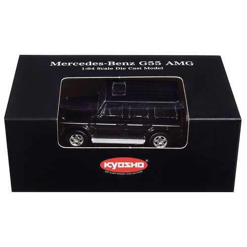 Mercedes Benz G55 AMG Black 1/64 Diecast Model Car by Kyosho