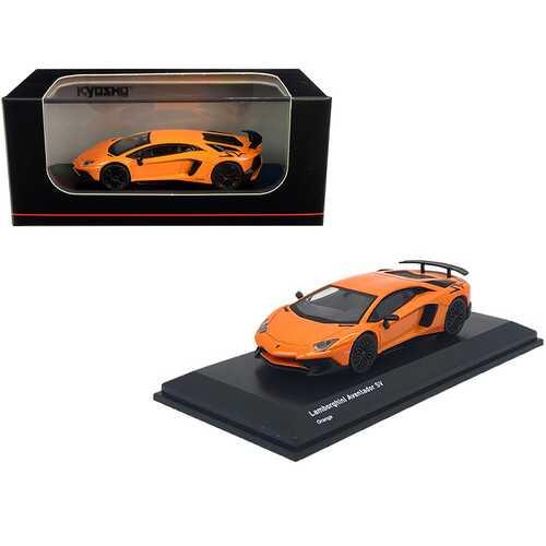 Lamborghini Aventador SV Orange 1/64 Diecast Model Car by Kyosho