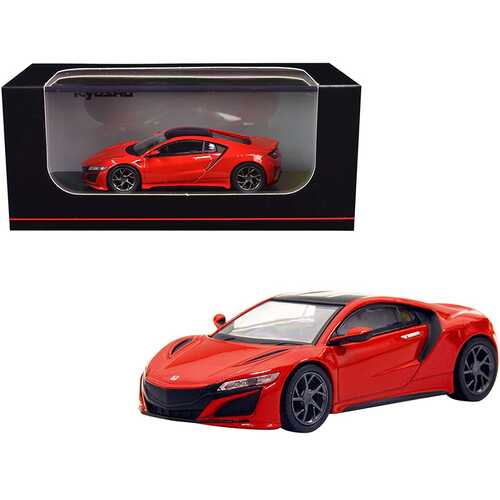 Honda NSX RHD (Right Hand Drive) Red with Black Top 1/64 Diecast Model Car by Kyosho