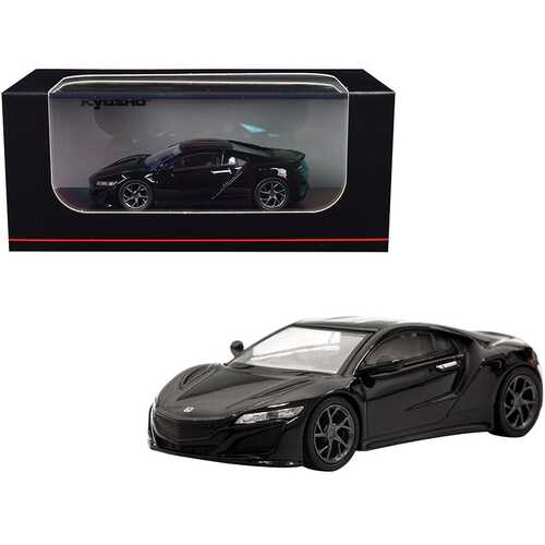 Honda NSX RHD (Right Hand Drive) Black 1/64 Diecast Model Car by Kyosho