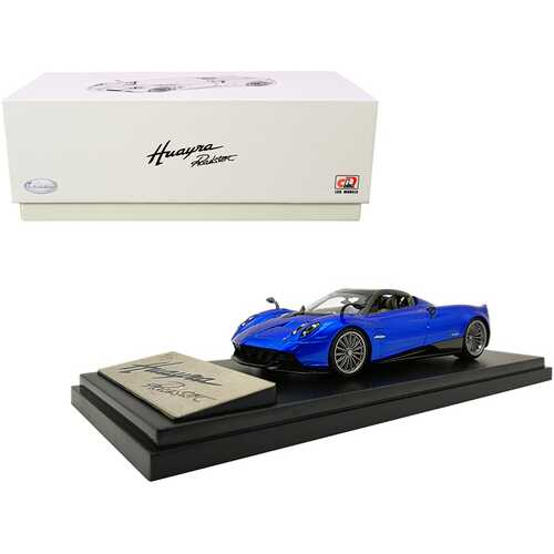 Pagani Huayra Roadster Blue Metallic with Carbon Accents 1/43 Diecast Model Car by LCD Models