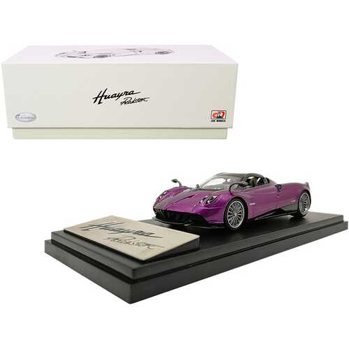 Pagani Huayra Roadster Purple Metallic with Carbon Accents 1/43 Diecast Model Car by LCD Models