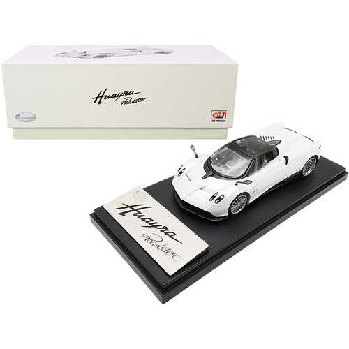 Pagani Huayra Roadster White with Carbon Accents 1/43 Diecast Model Car by LCD Models