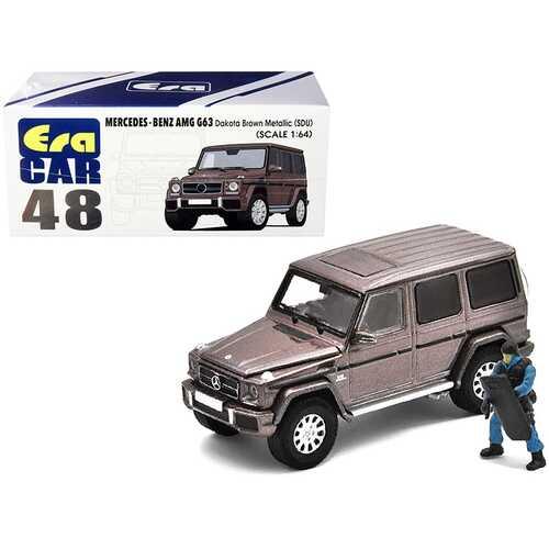 Mercedes Benz G63 (SDU) Dakota Brown Metallic with Officer Figurine 1/64 Diecast Model Car by Era Car