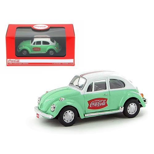 1966 Volkswagen Beetle Coca Cola Green 1/43 Diecast Car Model by Motorcity Classics