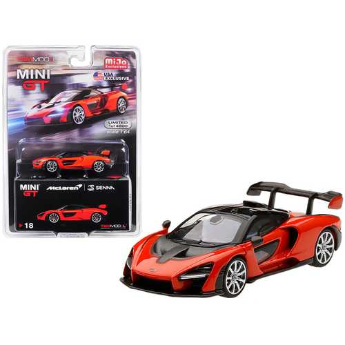 McLaren Senna Mira Orange Limited Edition to 4,800 pieces Worldwide 1/64 Diecast Model Car by True Scale Miniatures
