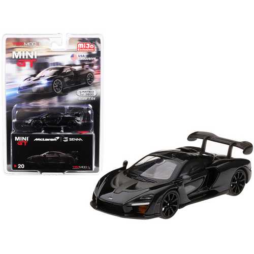 McLaren Senna Onyx Black Limited Edition to 3,600 pieces Worldwide 1/64 Diecast Model Car by True Scale Miniatures