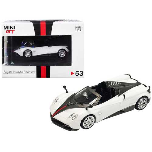 "Pagani Huayra Roadster RHD (Right Hand Drive) White ""Hong Kong Exclusive"" 1/64 Diecast Model Car by True Scale Miniatures"