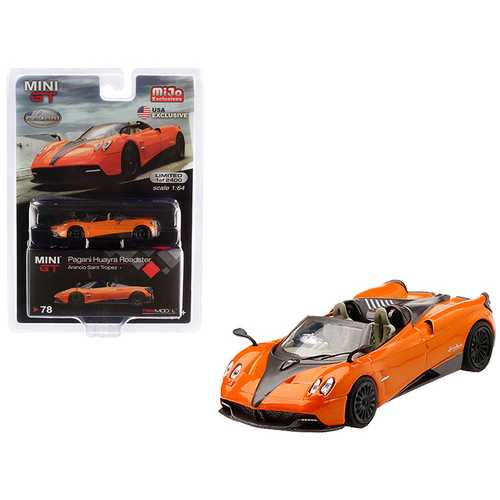 Pagani Huayra Roadster Arancio Saint Tropez / Orange Metallic Limited Edition to 2,400 pieces Worldwide 1/64 Diecast Model Car by True Scale Miniatures