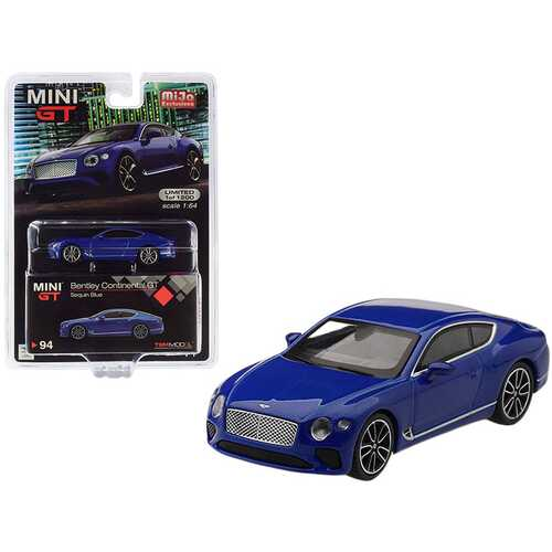 2018 Bentley Continental GT Sequin Blue Metallic Limited Edition to 1,200 pieces Worldwide 1/64 Diecast Model Car by True Scale Miniatures