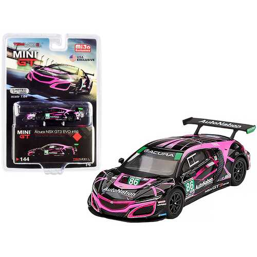 "Acura NSX GT3 EVO #86 ""Auto Nation"" IMSA Watkins Glen Class Winner (2019) Limited Edition to 1200 pieces Worldwide 1/64 Diecast Model Car by True Scale Miniatures"