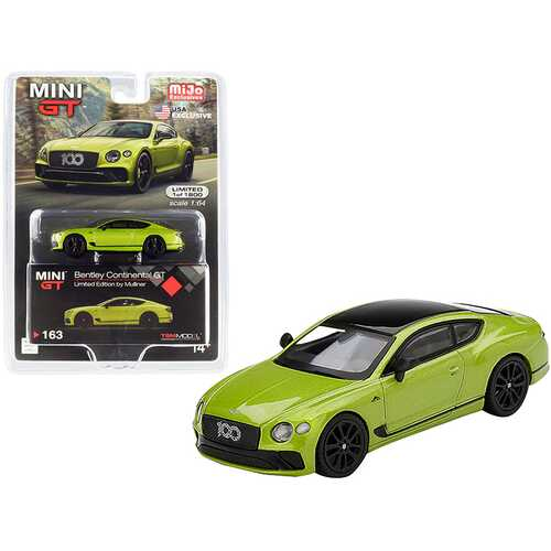 Bentley Continental GT Limited Edition by Mulliner Green Metallic with Black Top Limited Edition to 1800 pieces Worldwide 1/64 Diecast Model Car by True Scale Miniatures