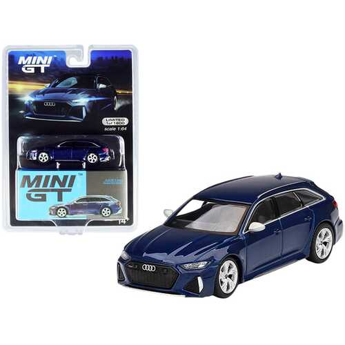 Audi RS 6 Avant Navarra Blue Metallic Limited Edition to 1800 pieces Worldwide 1/64 Diecast Model Car by True Scale Miniatures