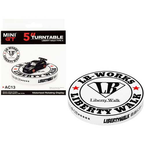 """Rotary Display Turntable 5 Inches """"Liberty Walk"""" Type A for 1/64 Scale Models by True Scale Miniatures"""