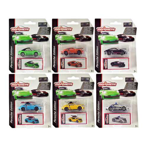 Deluxe 2020 Porsche 911 Carrera S Set of 6 pieces 1/64 Diecast Model Cars by Majorette