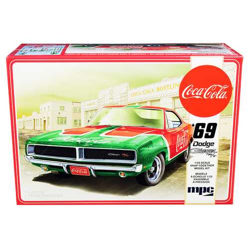 "Skill 3 Snap Model Kit 1969 Dodge Charger RT ""Coca-Cola"" 1/25 Scale Model by MPC"