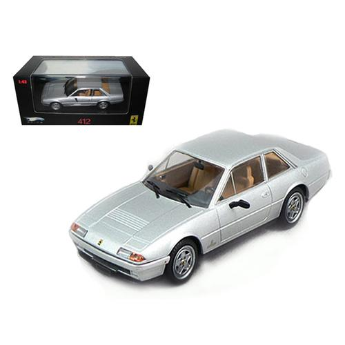 Ferrari 412 Silver Limited Edition Elite 1/43 Diecast Model Car by Hotwheels