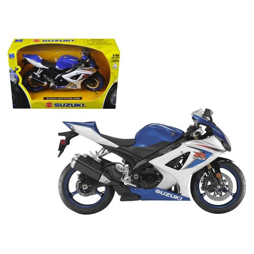 2008 Suzuki GSX-R1000 Blue Bike Motorcycle 1/12 by New Ray